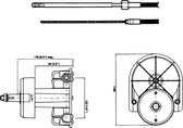 Ultraflex Stuurkop T85 Stuurkop T85 Zwart