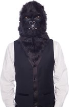 Masker met bewegende mond zwarte gorilla