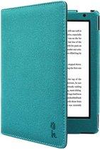 Soft Premium Beschermhoes Kobo Aura H2O edition 2 / Sleepcover H20 Hoes Petroleum Blauw
