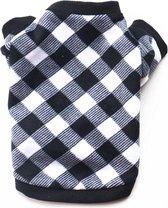 Honden trui - Warme trui voor honden - Zwart/Wit - Maat S