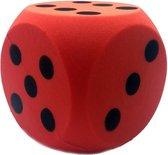 Grote foam dobbelsteen rood 16 x 16 cm - Dobbelspel - Speelgoed