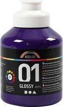 A-color Glossy acrylverf, violet, 01 - glossy, 500 ml