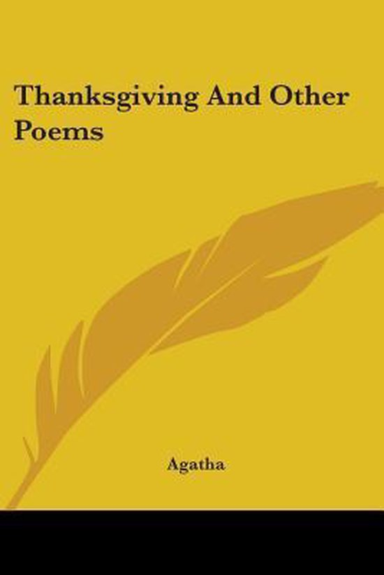 Thanksgiving and Other Poems