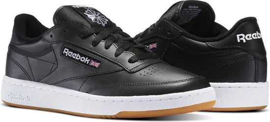 Reebok Club C 85 Sneakers Heren - Int-Black/White-Gum  Int-Black/White-Gum  - Maat 42