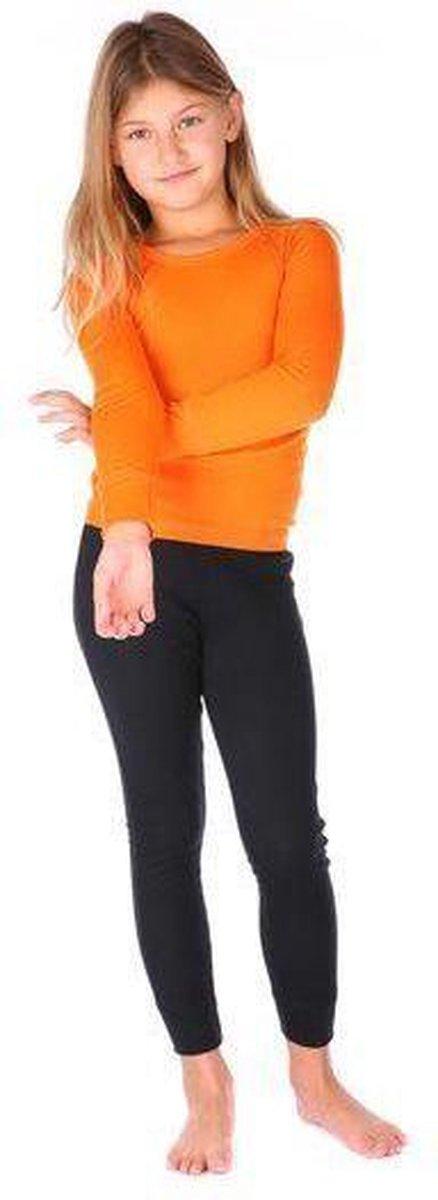 THERMO4SPORTS thermokleding - Thermoset oranje-zwart