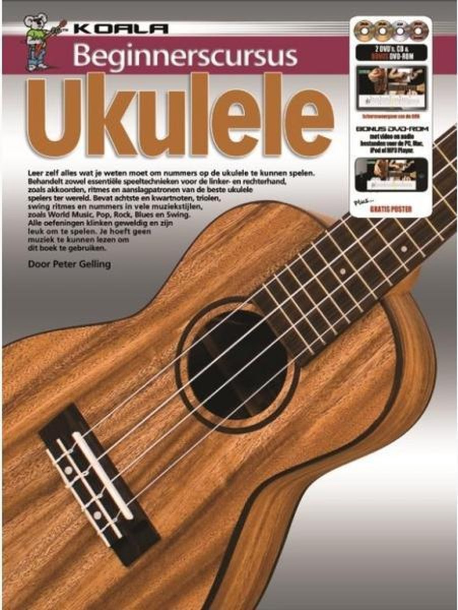 Beginnerscursus Ukulele - Boek + Online Audio en Video