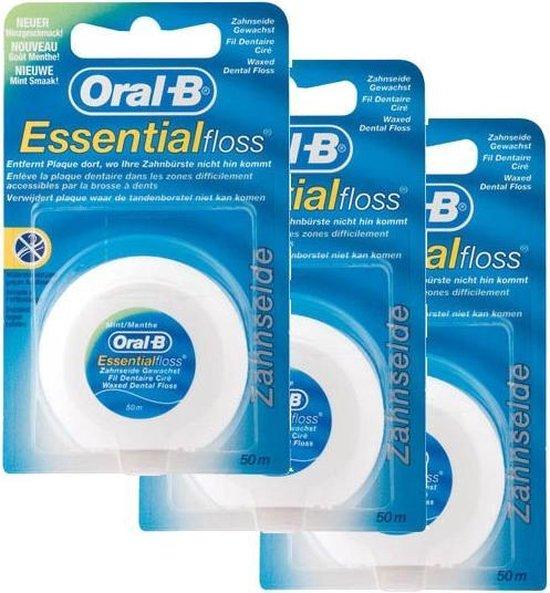 Oral-B Essential Floss Mint - 3 Stuks - Voordeelverpakking
