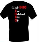 Funny t shirt EHBO zwart XL