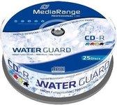 CD-R MediaRange 700MB 25pcs Spindel 52x Waterguard fullpri