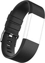 Horloge Band Voor de Fitbit Charge 2 - Siliconen Sport Zwart Watchband - Armband Small - Geschikt voor de Activity Tracker / Polsband / Strap Band / Sportband - Black