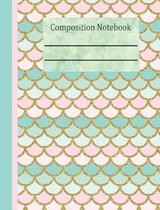 Mermaid Tail Composition Notebook - 4x4 Graph Paper