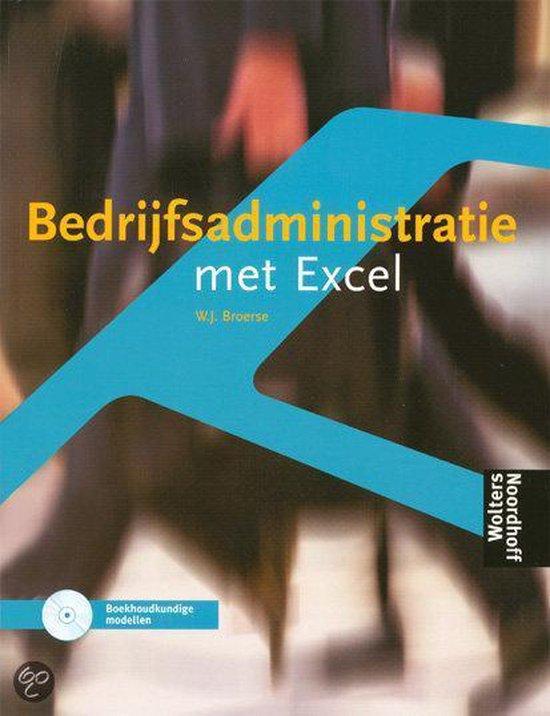Boek cover Opgavenboek Bedrijfsadministratie en Excel van W.J. Broerse (Paperback)