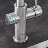 GROHE Blue Home Duo Keukenkraan - Starterkit - L-Uitloop - SuperSteel - Voor gezuiverd, gekoeld en bruisend water