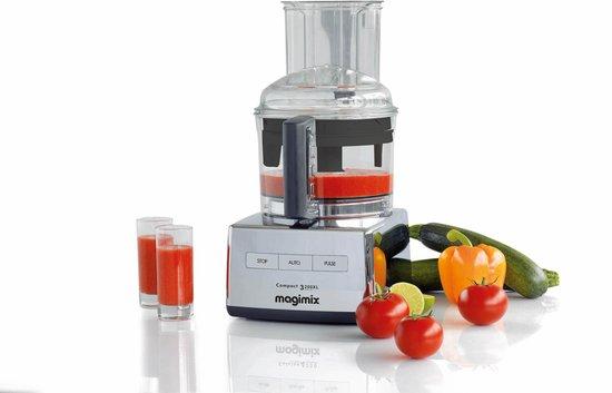 Magimix - CS 3200 XL - Foodprocessor - Chroom - Inductiemotor - Professionele messen - 30 jaar motorgarantie