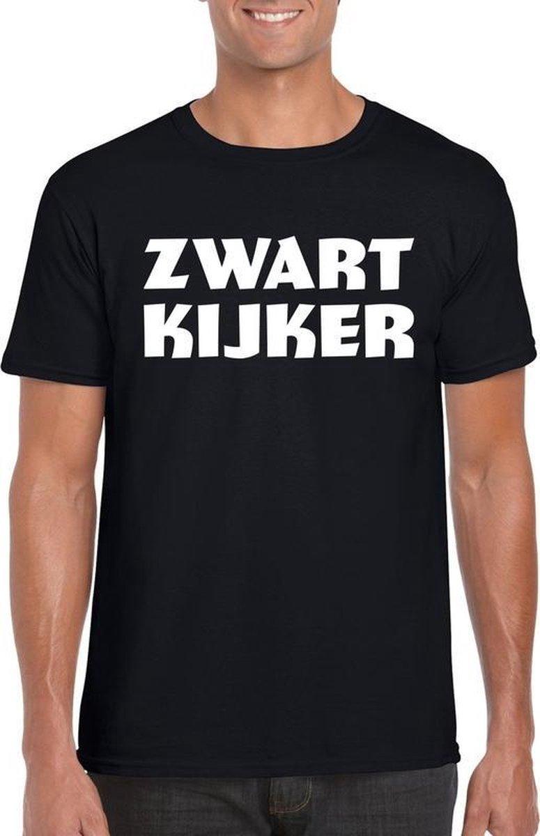 Zwartkijker heren T-shirt zwart XL