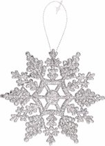 Kersthanger sneeuwvlok zilver type 2 - zilveren kerstversiering