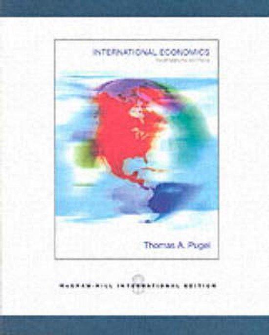 Boek cover International Economics van Thomas A. Pugel (Paperback)