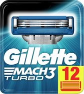 Gillette Mach 3 Turbo Scheermesjes 12 stuks