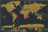 Originele Scratch Map – Kras wereldkaart – Kraskaart – Wereld Kraskaart