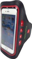 Tunturi Sport Telefoonarmband - Sportarmband - Hardloop armband - Smartphone armband - met Ledverlichting Rood