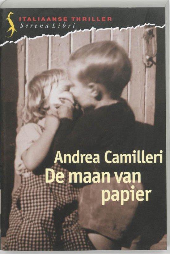 Cover van het boek 'De maan van papier' van Andrea Camilleri