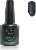 Cco Shellac-Overtly Onyx-Antraciet Met Grijze Shimmer- Gel Nagellak