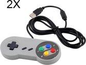 2X Plug & Play voor Super Nintendo SNES USB Controller - Voor PC/Apple MAC Raspberry Pi