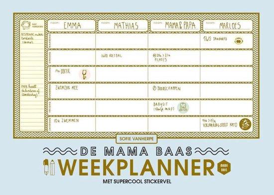 Mama Baas - De mama baas weekplanner - Sofie Vanherpe   Readingchampions.org.uk