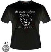 Funny slogan T-Shirt Maat XL - De allerliefste opa... Dat ben ik