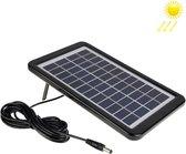 12V 3W draagbaar zonnepaneel met houderframe, 5,5 x 2,1 mm poort (zwart)