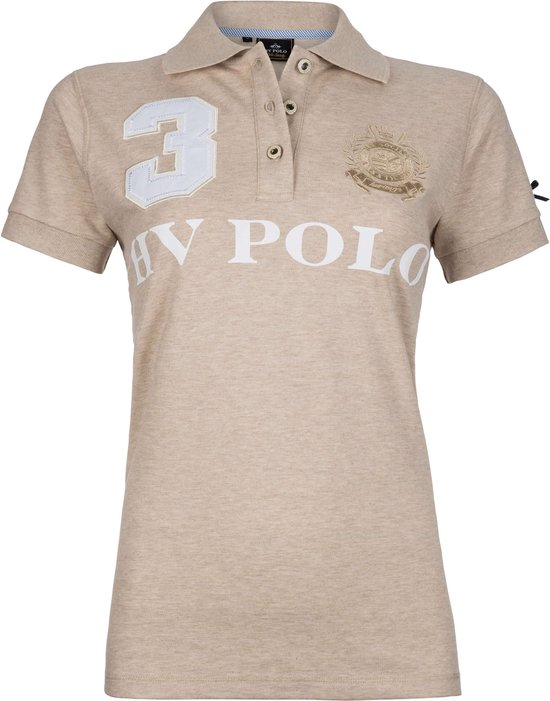 HV Polo Favouritas Eques KM - Polo Shirt - Sand Melange - S