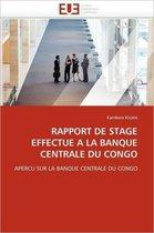Rapport de Stage Effectu� � La Banque Centrale Du Congo