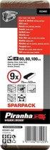 Piranha Sparpack schuurband 75 x 533 mm; korrel 60 (3x), 80 (3x), 100 (3x), 9 stuks X33481