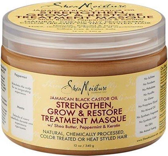 Shea Moisture Jamaican Black Castor Oil Strengthen, Grow & Restore Treatment Masque 340 ml