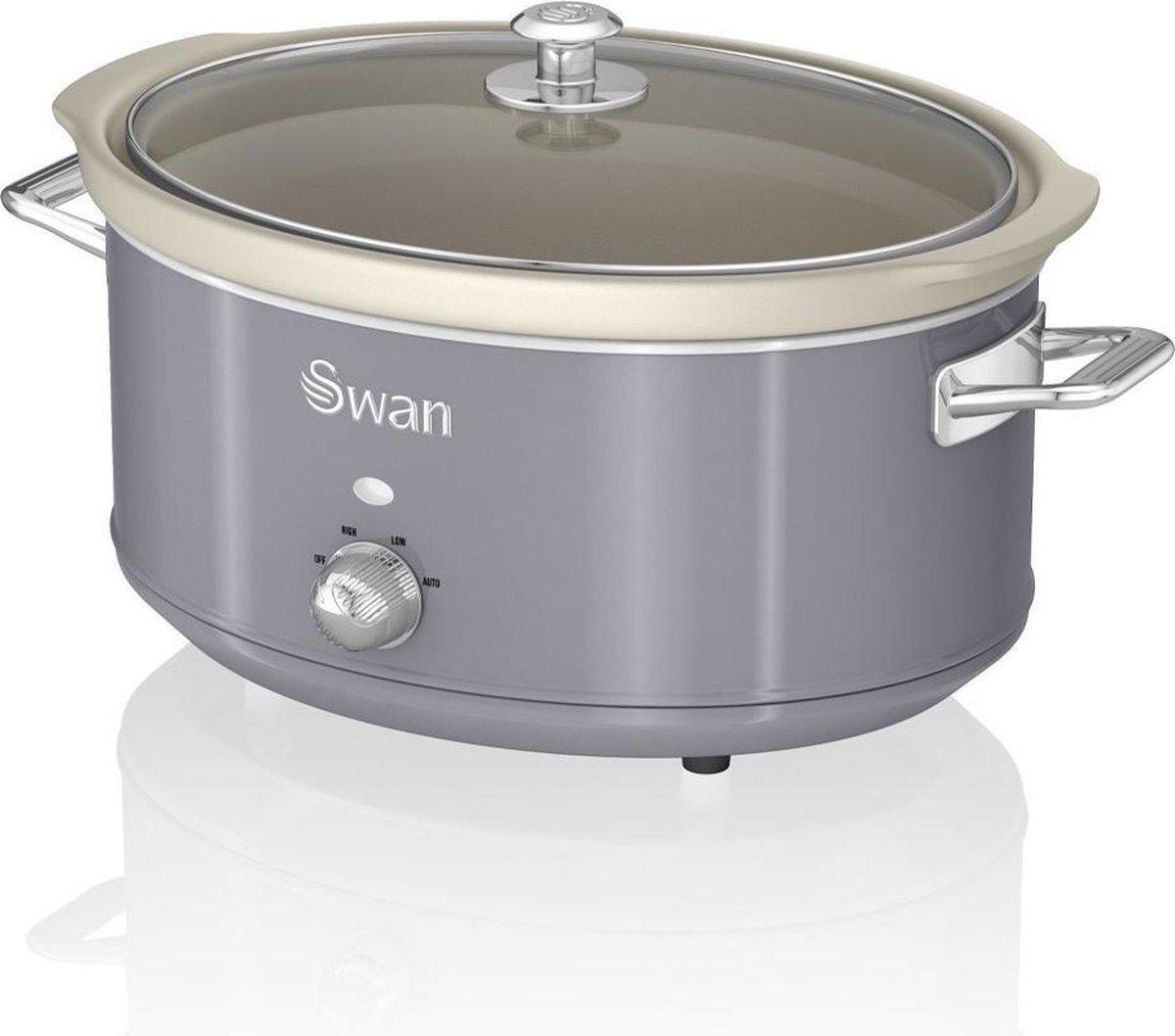 Swan Retro Slowcooker Grijs 6.5 liter online kopen
