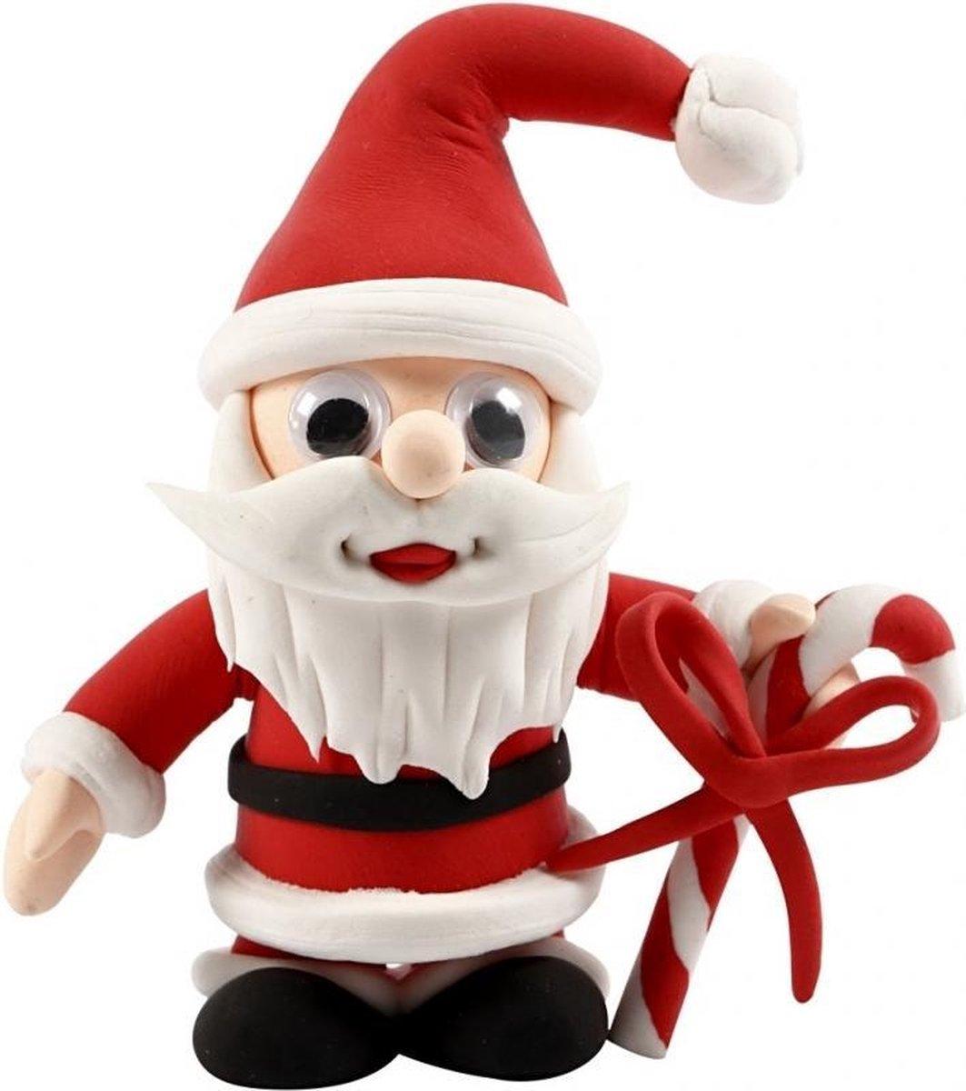Kerst Knutselset kerstman van klei