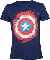 MARVEL - T-Shirt Captain America Shield (L)