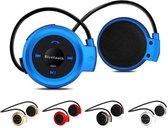 Draadloze Sport Oordopjes - Bluetooth Oortjes voor Hardlopen - On-ear Koptelefoon Blauw