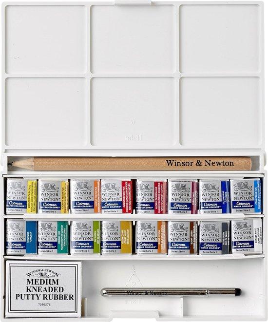 Winsor & Newton Cotman aquarelverf set pocketbox 16 napjes
