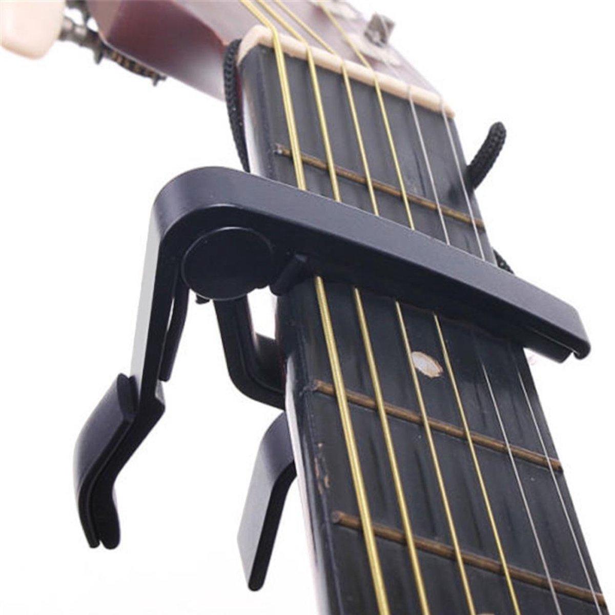 Multi Capo voor Gitaar - Elektrisch - Akoestisch - Luxe Capo - Modern Design - Zwart