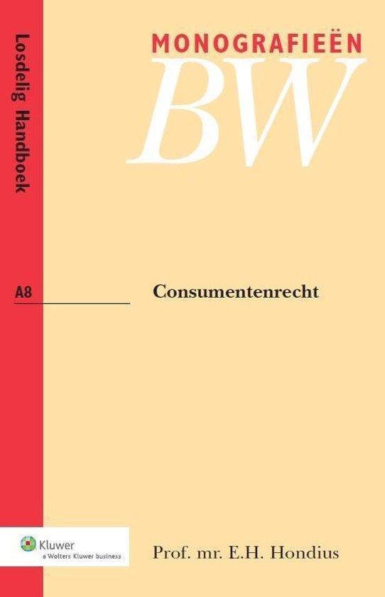 Monografieen BW A8 - Consumentenrecht - E.H. Hondius pdf epub