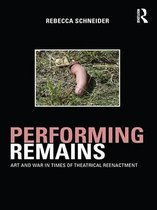 Boek cover Performing Remains van Rebecca Schneider