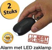 Persoonlijk alarm 130 DB – 2 Stuks – Inclusief Batterijen - LED Lamp – Noodsignaal – Inclusief Gebruiksaanwijzing – Veiligheidsalarm - Sleutelhanger – Zelfverdediging – Besafe – Sirene – Best geteste alarm – Extreem luid - Gratis verzending