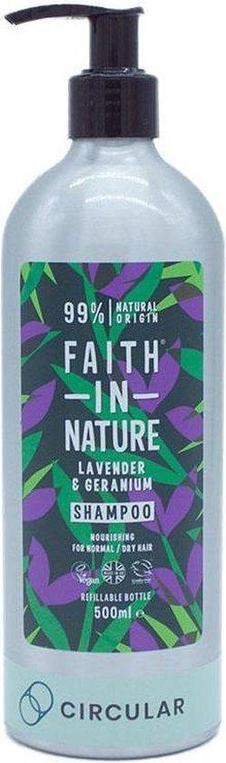 Faith In Nature Lavendel en Geranium Shampoo (500ml) - Vegan - Cruelty Free - Duurzaam Beauty - Natuurvriendelijke producten