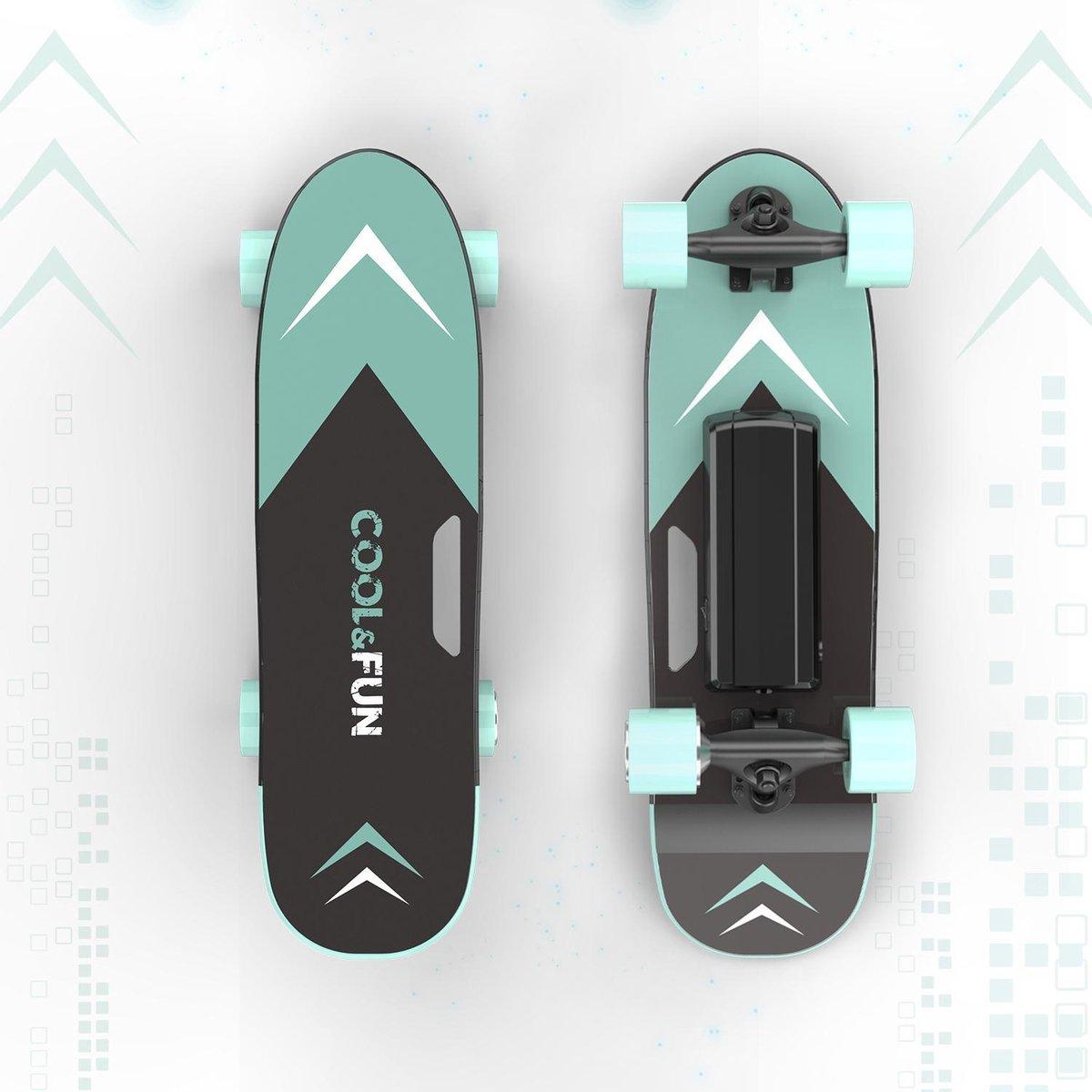 Cool & Fun Elektrisch Skateboard Mini Longboard   Met Afstandsbediening   Groen
