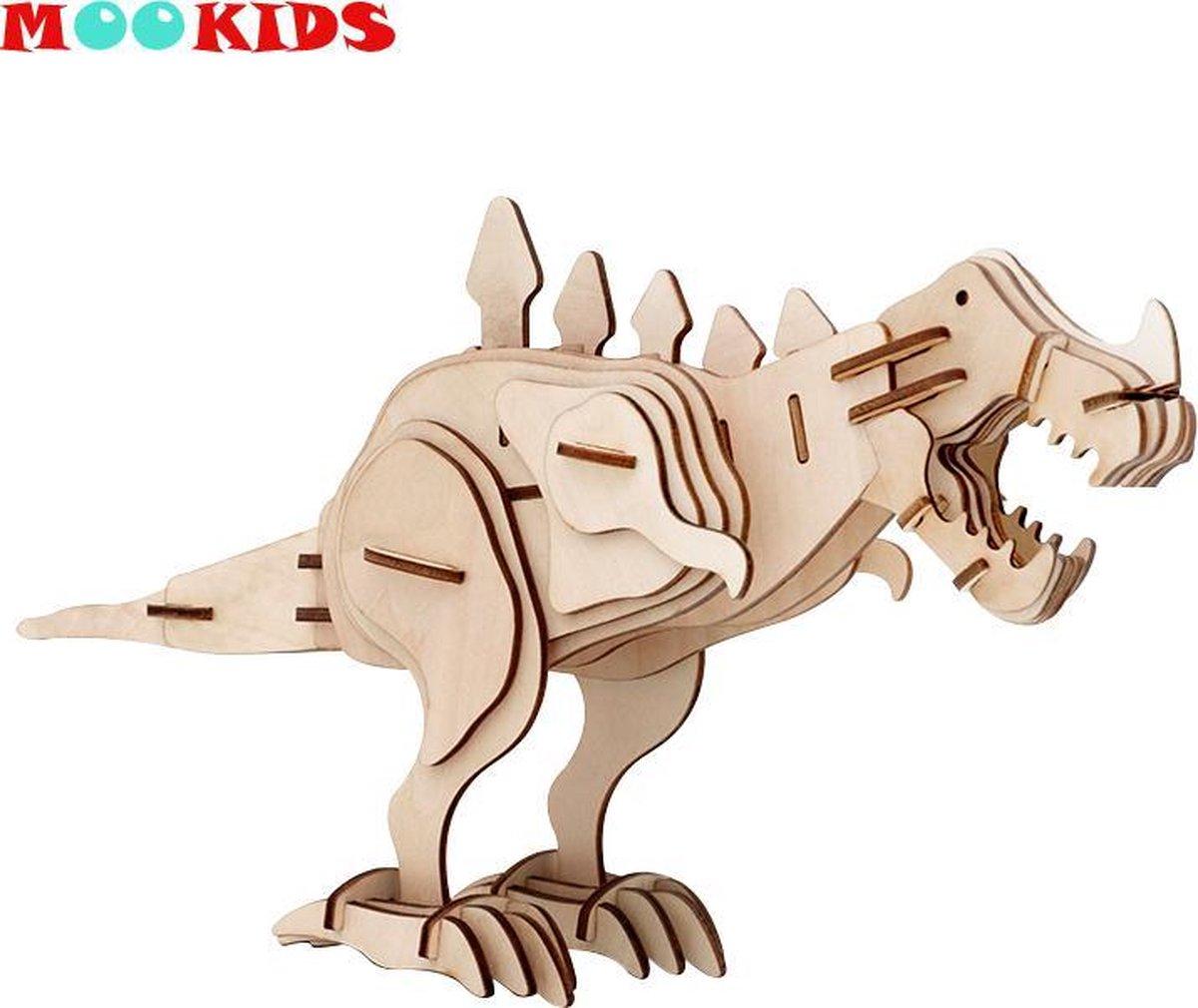 Mookids - Modelbouw Hout - 3D Puzzel - Tyrannosaurus Rex - 67 Stukken