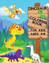 Dinosaur Coloring Book for Kids Ages 3-8