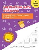 Subtraction Math Workbook