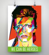 Poster Pop Art David Bowie - 50x70cm