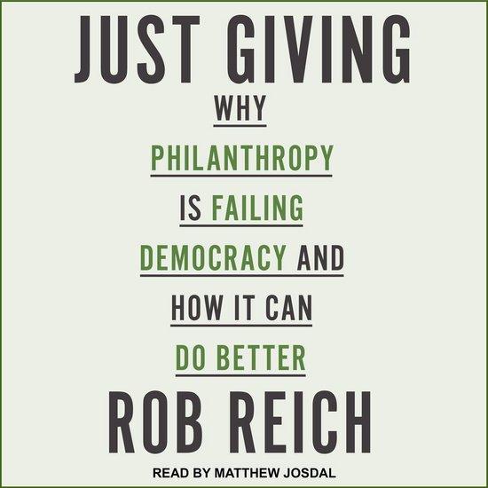 Boek cover Just Giving van Rob Reich (Onbekend)